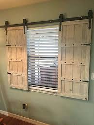 barn door shutters diy white sliding doors