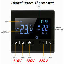 New Touch Screen LCD Display <b>Warm Floor</b> Temperature ...