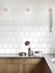 White Kitchen Tile Decordots Wooden Kitchen Cabinets And Concrete Floor Kitchens