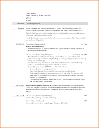 Sample Resume Cosmetology Mission Statement Inspirational 11
