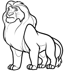 Small Picture Coloring Page Lion Click The Standing Lion Pages nebulosabarcom