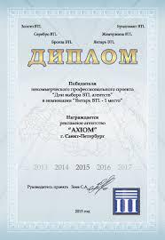 Отзывы Рекламное агентство Аксиома Рекламное агентство АКСИОМА г Санкт Петербург стало победителем в некомерческом профессиональном проекте Дни выбора btl агентств получив Диплом