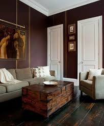 thin stripes of modern masters tequila gold metallic paint over dark plum walls for a mix