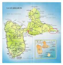 large road map of guadeloupe with cities and airports  guadeloupe