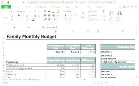 Budget Monthly Expenses Spreadsheet Personal Budget Excel Spreadsheet Free Monthly Household