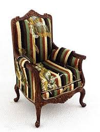 dolls house victorian armchair miniature walnut quality living room furniture 5060492160823