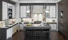 White-grey Kitchen cabinets Grey Kitchen Islands White and Grey Kitchen