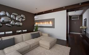 image of chrome large wall decor ideas for living room