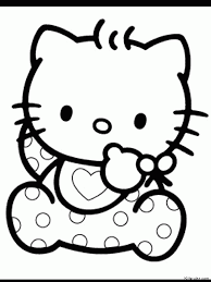 Free printable hello kitty coloring pages for pages. Hello Kitty Book Coloring Home
