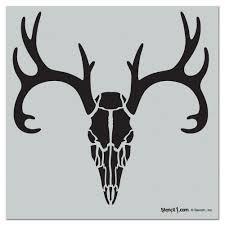 stencil1 deer skull repeat pattern stencil