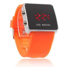 fashion orange watches whole orange watches orange digital led womens childrens mens watch