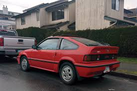 Old Parked Cars Vancouver: 1987 Honda Civic CRX Si