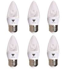 40 watt equivalent b11 dimmable e26 base candelabra torpedo led light bulb