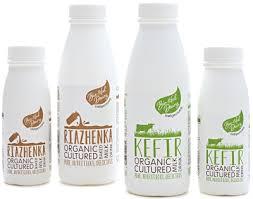 kefir drink. bio-tiful dairy cultured milk drinks - kefir and riazhenka drink