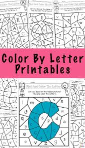 Free printable alphabet letters with pattern to color. Color By Letter Fun With Mama