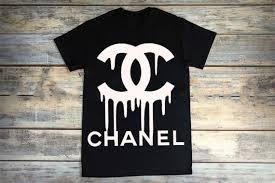 chanel shirt. dripping chanel inspiredt shirt\u2026 adult size shirt