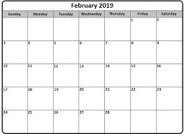 pdf printable calendar february 2019 calendar pdf printable free printable calendar templates
