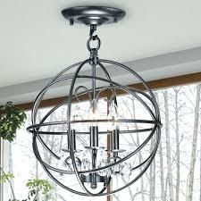 black globe chandelier 3 light antique bronze metal crystal flush mount ping orb