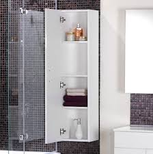 oak bathroom wall storage cabinets. Bathroom Interior White Wooden Shower Room Cabinet With Shelves Hang On Black Glass Mosaic Backsplash Plus Frameless Wall Mirror As Well Garage Organizer Oak Storage Cabinets C