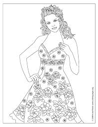 Small Picture Free Printable Fashion Coloring Pages For Adults Coloring Home