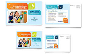 Cleaning Services Postcard Template Word Publisher