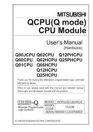 qcpu(q mode) cpu module user`s manual (hardware) manualzz com Basic Electrical Wiring Diagrams at Qx81 Wiring Diagram
