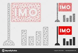 Imo Bar Chart Vector Mesh Network Model And Triangle Mosaic