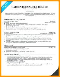 Finish Carpenter Sample Resume | Kicksneakers.co