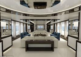 luxurious living rooms en suite master cabins and hydraulic bathing platforms inside the most extravagant yachts at the london boat show