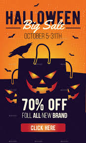 halloween sale flyer halloween sale banner by rockgasm graphicriver