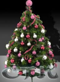 *CTK* Mini Xmas Tree - Pink and Silver