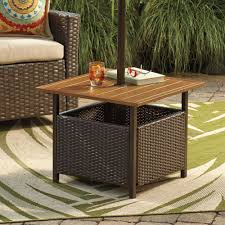 terrific outdoor umbrella stand side table