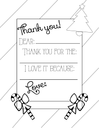 Christmas Thank You Coloring Page Printable Coloring Page For Kids