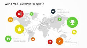 World Map Powerpoint Template Pslides