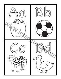 Near the letters, animals or objects that correspond to the letter can be depicted. Alphabet Coloring Letter Coloring A Z A Z Worksheets Preschool Lesson Tutor