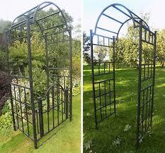 extra heavy duty black metal garden
