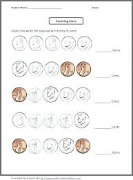 coin practice worksheets