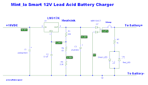 4 lead acid battery charging circuit using lm317 12v lead acid battery charger by lm317k