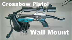 1 day builds crossbow pistol wall mount