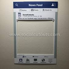 birthday picture frames for facebook large printed shipped facebook cutout frame prop perfect for graduation wedding birthday party corporate marketing