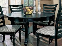 Image of: Black Small Round Dining Table
