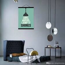 modern minimalist hipster office bedroom wall art light inspirational typography es a4 big poster print canvas painting gift custom made pop art unique