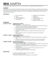 Resume Templates Administrative Assistant Admin Assistant Resume Template Innerawareness Co