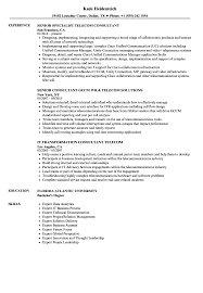 Sample Telecommunications Consultant Resume Telecom Consultant Resume Samples Velvet Jobs