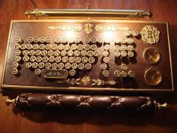 steampunk office. Awesome Steampunk Office Supplies Amazing Keyboard, The Details Are Superb!