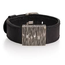 Mens Designer Accessories Todd Reed Jewelry Mens Leather Cuff Bracelet Mens Designer