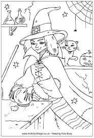 Small Picture Witch Colouring Pages
