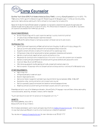 Camp Counselor Resume Perfect Resume