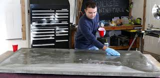 how to make a diy concrete dining table