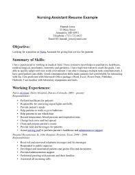 Nursing Assistant Job Description 24 No Work Experience Resume Example Sample Resumes Nurse Life 11